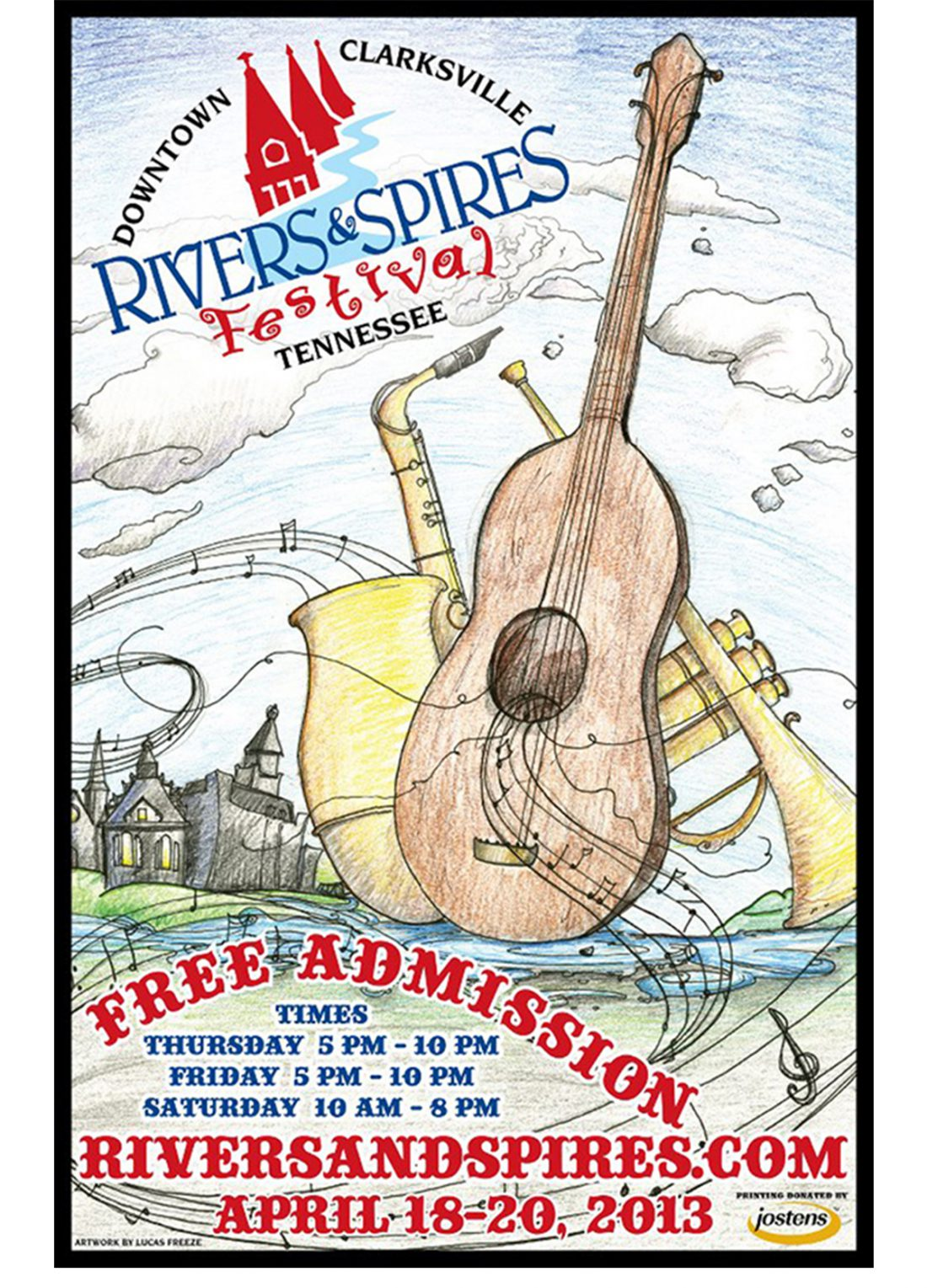 Rivers and Spires 2013 - Custom Illustration