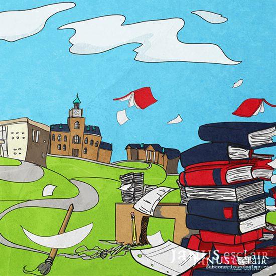 The Monocle - Academics Illustration