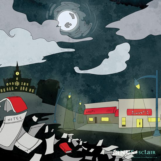 The Monocle - Nightlife Illustration