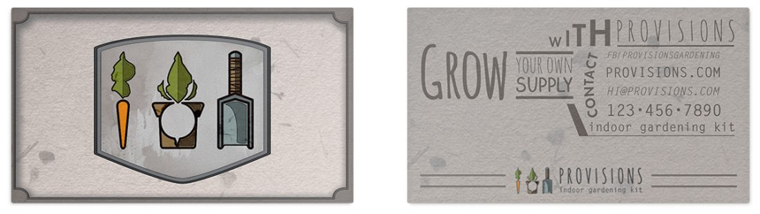 Provisions - Indoor Gardening Kit - Business Card Design