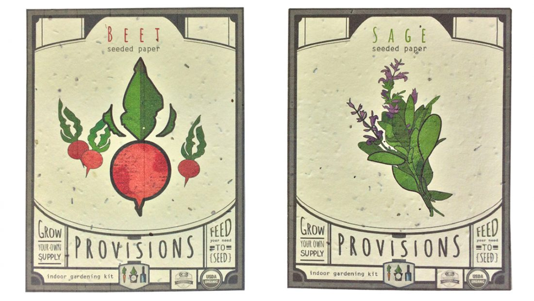 Provisions - Indoor Gardening Kit - Seed Packet Design