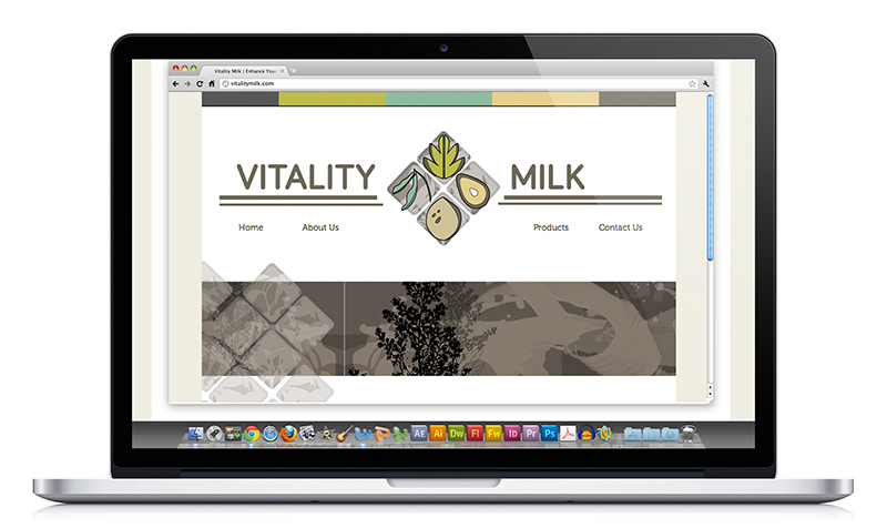 Vitality Milk - Website Design