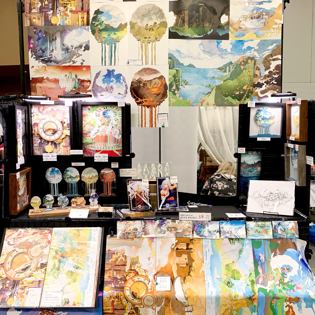 Original Art Booth Setup